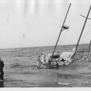 Ketch Confidence ashore Penzance, 1980
