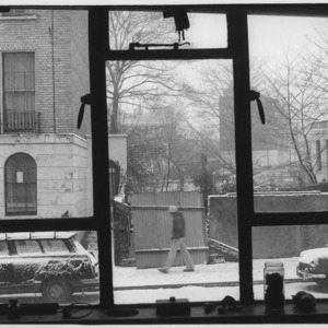 View from Serena Wadham&#039;s studio on a snowy day.<br />