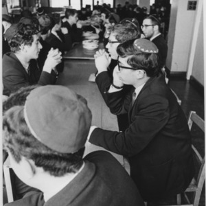 Jewish students in the school canteen